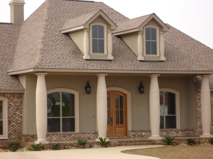 Large stucco columns islander stucco systems inc for Stucco columns