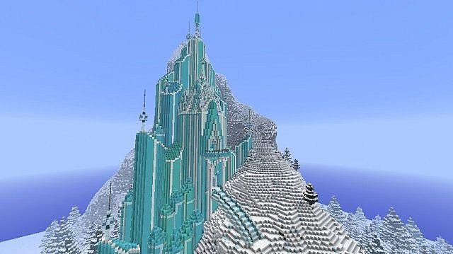 Как сделать ледяной замок в майнкрафте