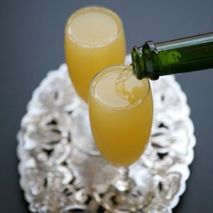 Mimosa  The simple method of mixing champagne and orange juice, popularized in Paris and London in the 1920s, has an enduring appeal.