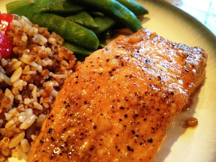 A Healthy Makeover: Maple Teriyaki Glazed Salmon