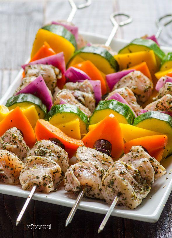 Greek Style Chicken Kebabs | Recipe