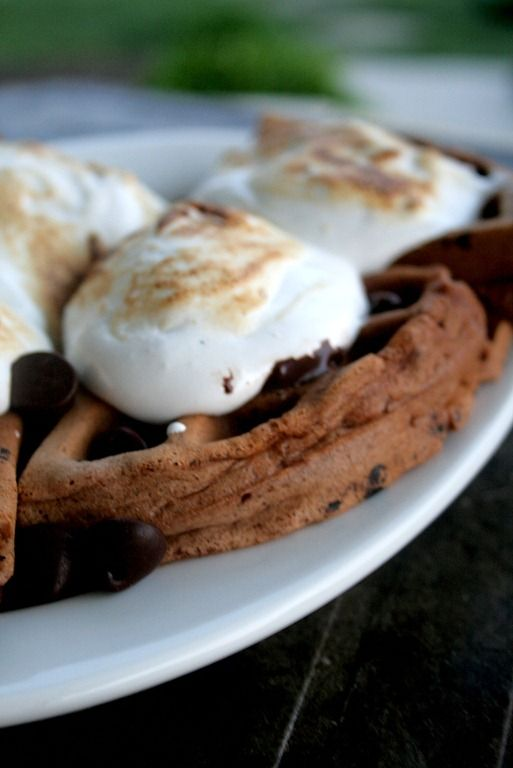 mores Chocolate Waffles | Waffles. | Pinterest