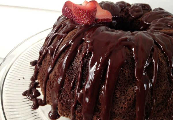 Devil's Food Cake with Espresso Chocolate Ganache!