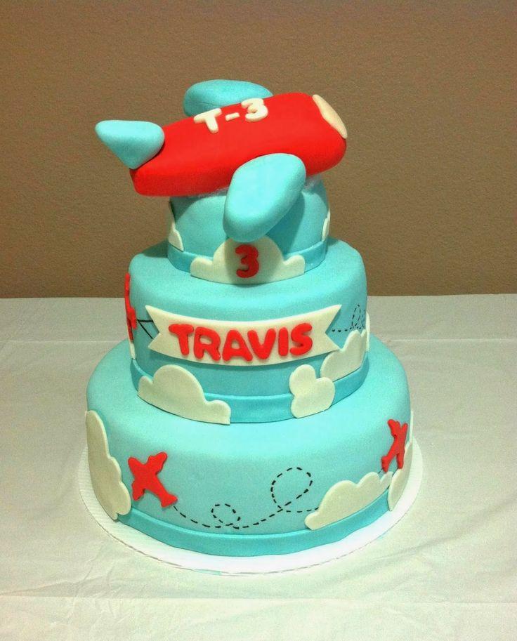 vegan birthday cake. - plane, clouds, marshmallow, fondant, vegan ...