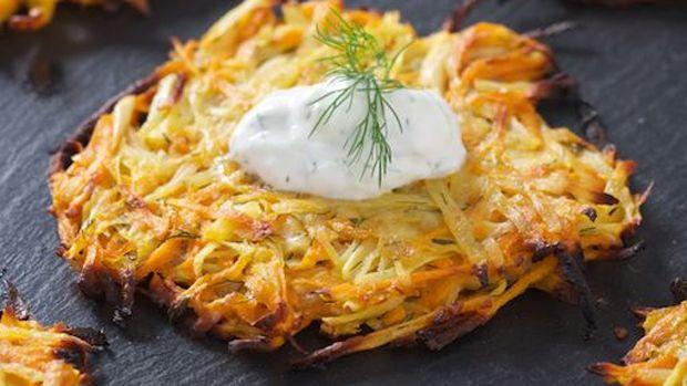 Three Root Vegetable Latkes | Potatoes | Pinterest