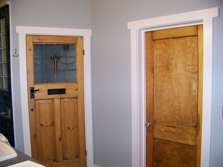 Wood doors with white trim entry addition pinterest for Wood doors with white trim pictures