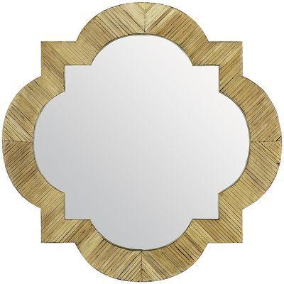 Bamboo Quatrefoil Mirror