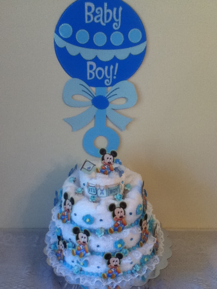 baby mickey baby shower cake crafts pinterest
