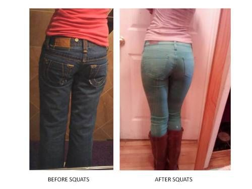 Before and After Squats!   motivation   Pinterest