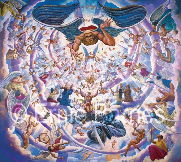 Ernie barnes pittori pinterest for Buy mural paintings