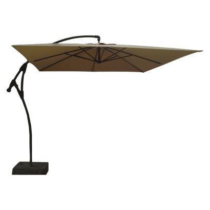 threshold square offset patio umbrella and base blue 9
