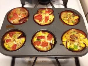 Paleo breakfast in a muffin tin