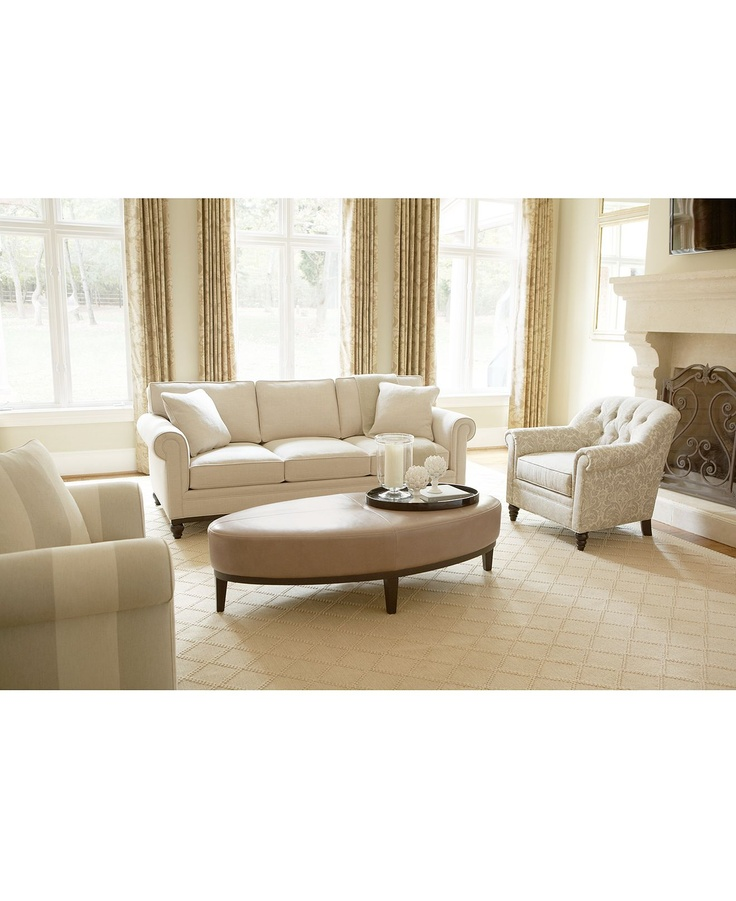 Martha Stewart Club Fabric Sofa Living Room Furniture Collection