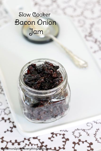Slow Cooker Bacon Jam - what an interesting twist on jam! This would ...