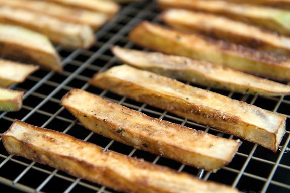 Eggplant Fries - ditch the flour and the deep fryer and roast these in ...