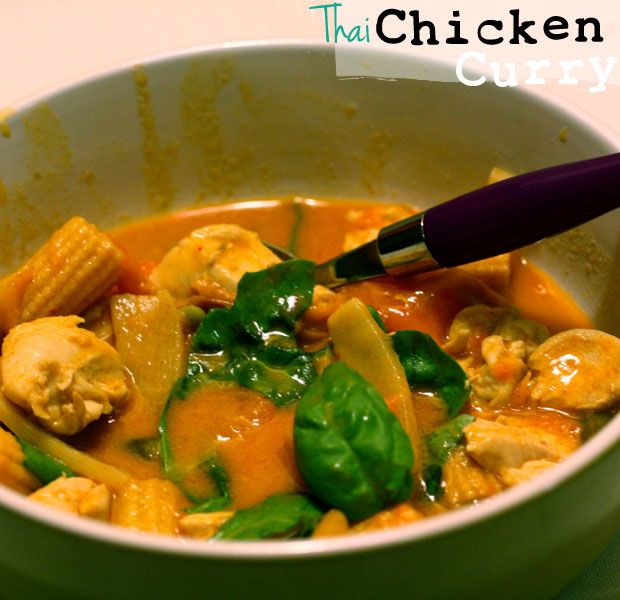 20-Minute Thai Chicken Curry -make veg. might've already pinned this ...