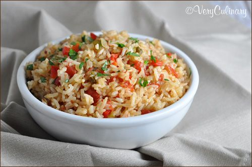 Simple Spanish Rice in rice cookere | Yummy | Pinterest