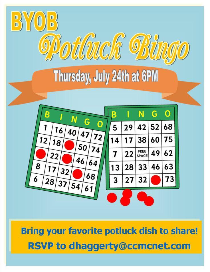 BYOB Summer Potluck Bingo 2014 | My Event Flyers | Pinterest