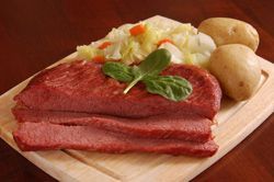 Corned Beef, Red Potatoes and Cabbage with Horseradish Cream -- Crock ...
