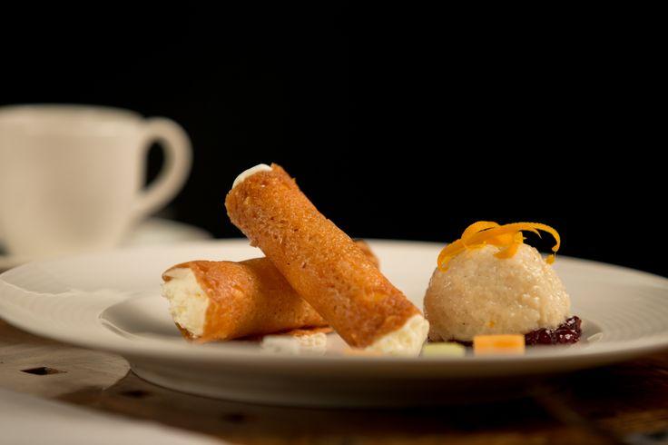 Arborio Rice Pudding Cannoli with Orange - Coconut Cream, Citrus Zest ...