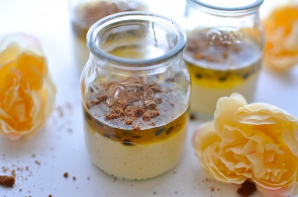 Passionfruit cheesecake pots | Nom Collective | Pinterest