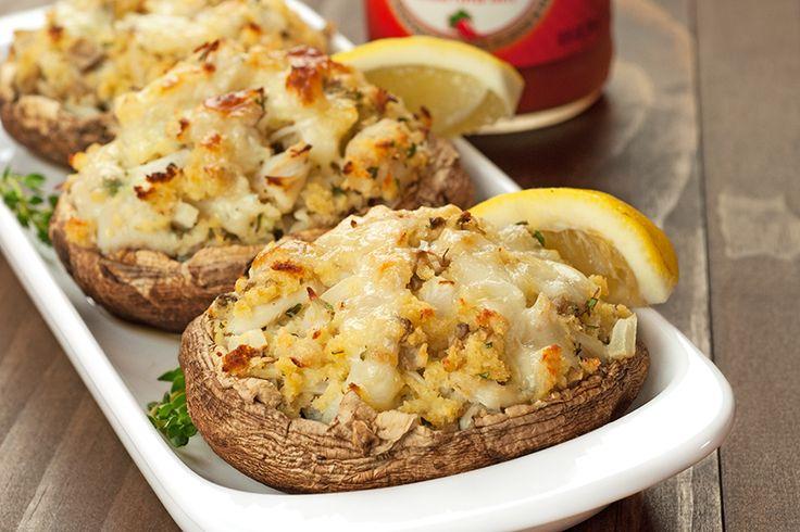 Crab-Stuffed Portobello Mushrooms ~ lump crab, panko, lemon, thyme ...