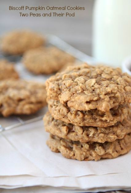 Biscoff Pumpkin Oatmeal Cookie Recipe on twopeasandtheirpod.com ...