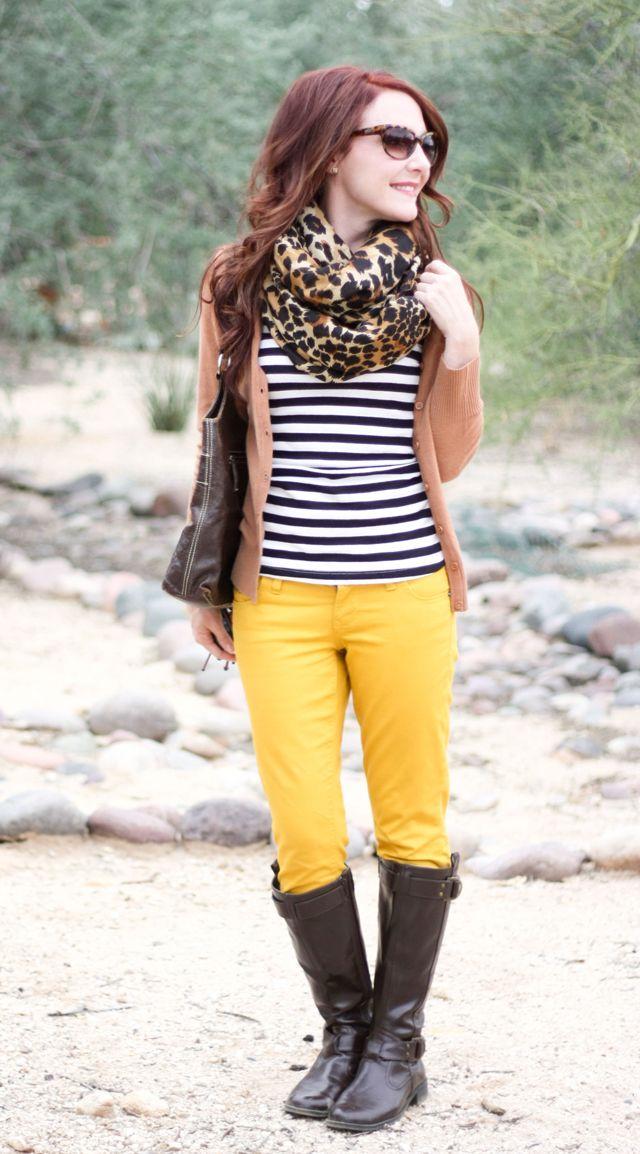 Delusions of Grandeur: Mustard, tan and stripes