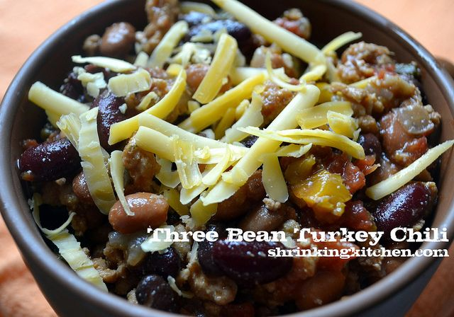 Three Bean Turkey Chili - 5 WW PP for a generous serving!