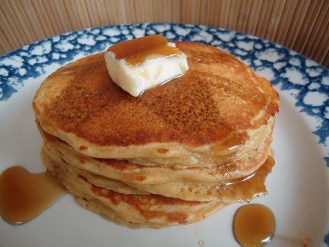 Whole wheat peanut butter pancakes   Pancakes   Pinterest