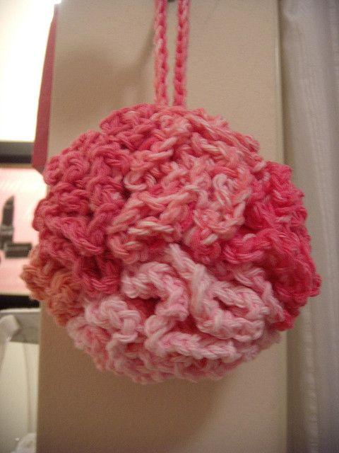 Free Crochet Pattern Bath Pouf : I will never buy a bath pouf again! Crochet patterns ...