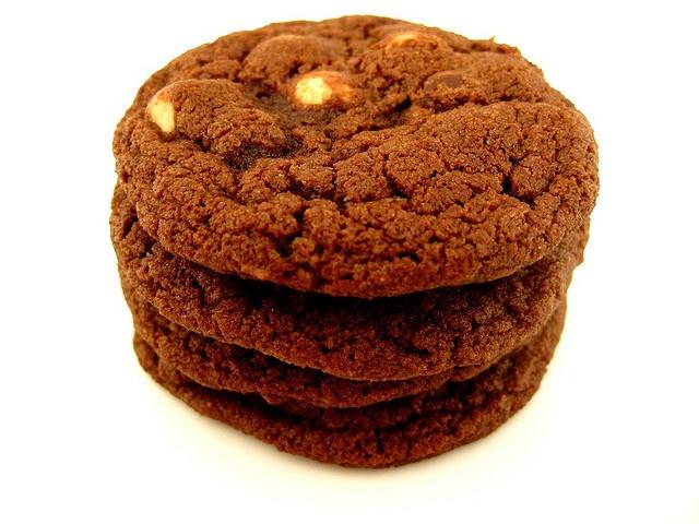 Chocolate White Chocolate Chunk Cookies | Food - Cookies | Pinterest