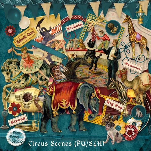 digital scraps Circus Scenes (PU/S4H) by StarSongStudio