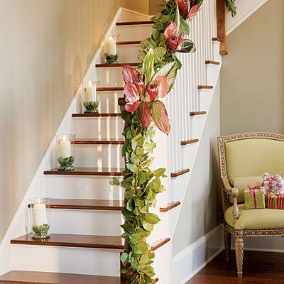 christmas staircase jean allsopp photog coastal living  Isn't this precious?