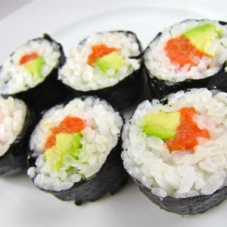 how to prepare salmon sushi rolls