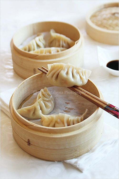 Steamed Dumplings Recipe - You can use shrimp and ground pork or ...