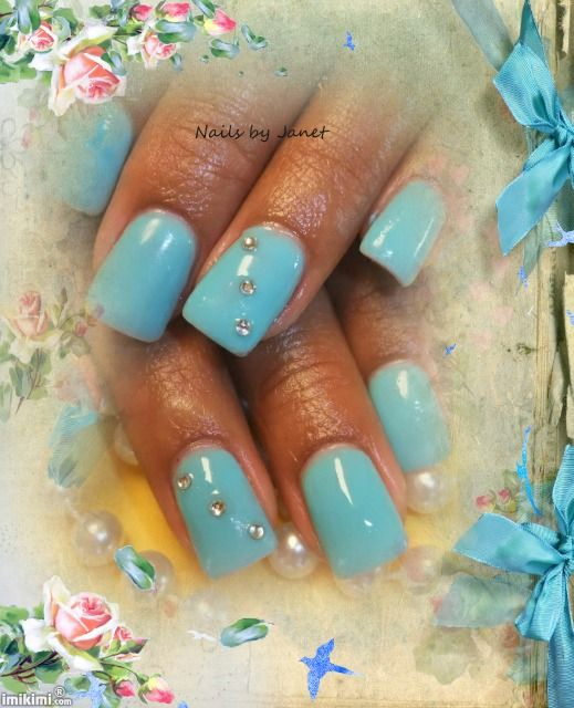 Gel Nails with rhinestones.. | The Nail Fairy | Pinterest