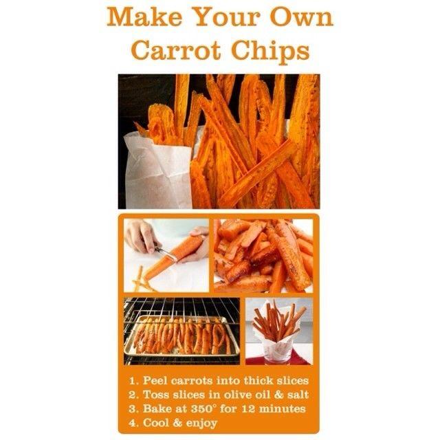 Carrot chips | Appetizers | Pinterest