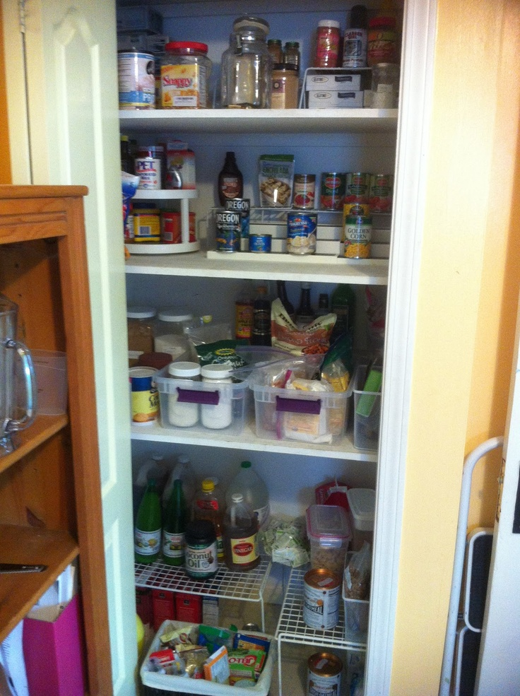 how to organize a deep or any pantry kitchen organization pint