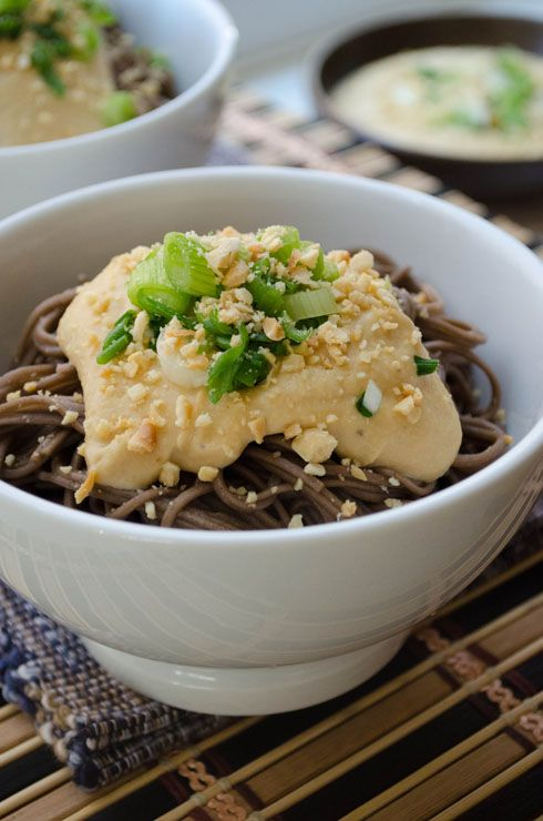 Soba with Miso Hummus Sauce | asian food | Pinterest