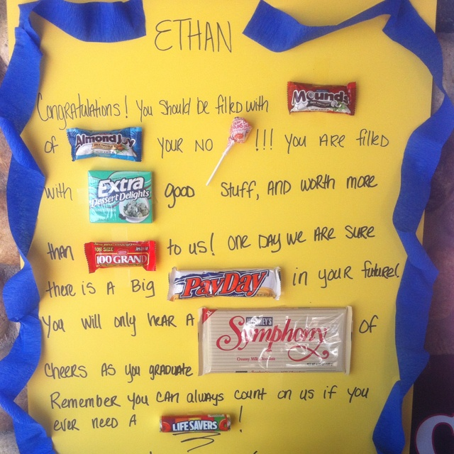 Graduation candy card:-) | Celebrate Dad's and Grads! | Pinterest