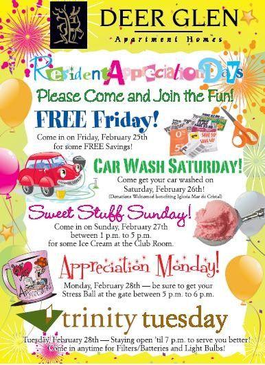resident appreciation week ideas apartment marketing