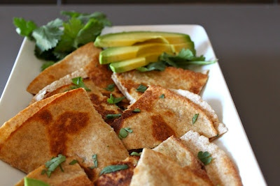 Black Bean and Goat Cheese Quesadilla | yum | Pinterest