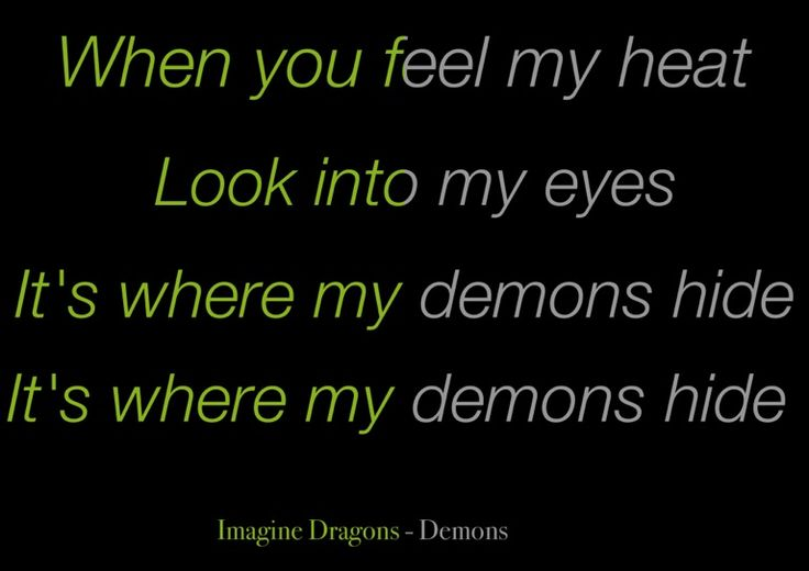 imagine dragons demons lyrics song - photo #12