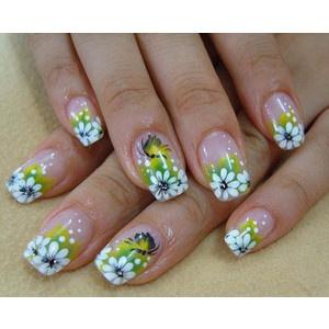 24 French Tips Nail Art Designs | Nail dot/ pattern designs.. | Pinte