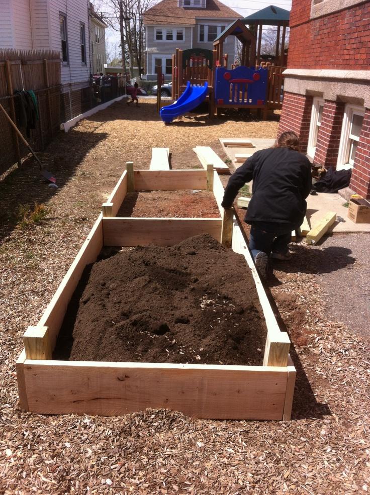 Rollins School Garden Build Stage 2 Preschool Garden