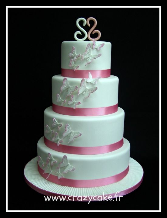 Pink wedding Cake by Crazy Cake Cakes   5 Pinterest