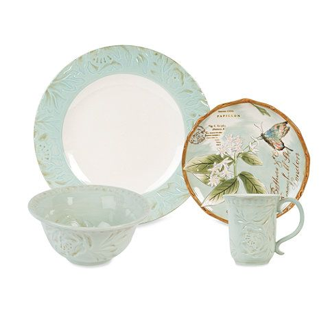 Fitz and Floyd® Toulouse Dinnerware Collection in Green ...