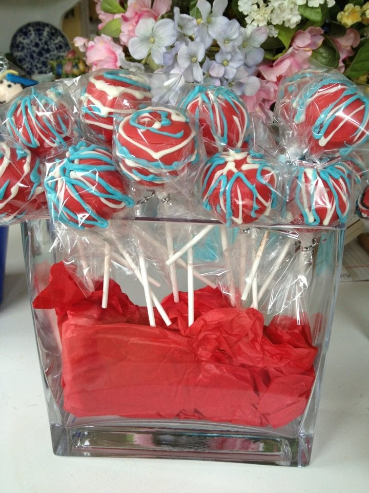 Red white and blue cake pops | Food & Drink | Pinterest