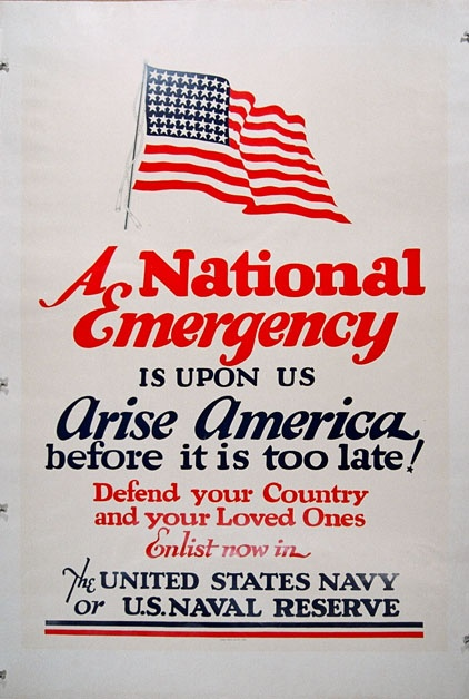 American Poster, 1941 -- A National Emergency is Upon Us.